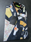 """Paul Smith """"PS"""" Navy Long Sleeve with Double Cuff  shirt - Size M"""