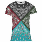 Mens Four Colour Bandana Print Tee T Shirt Top