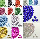 Wholesale 2000pcs 2/3/4/5mm Acrylic Rhinestone Half Round Flatback Beads
