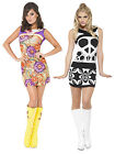 Fever Ladies 60s 70s Hippy Hippie Flower Power Fancy Dress Costume Womens Ladies