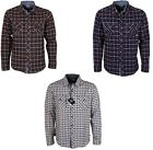 MENS LAMBRETTA CHECK SHIRTS CASUALWEAR NEW IN 3 COLOURS RRP £39.99