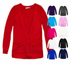 Girls Cardigan Long Sleeve Kids Button Casual Cardi Top Teens New Age 7-14 Years