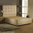 HF4YOU 6FT SUPER KING SUEDE DIVAN BED BASE - MATCHING HEADBOARD + COLOUR OPTIONS