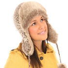 NEW QUALITY LADIES RUSSIAN COSSACK TRAPPER SKI  WINTER HAT  57 . 58cmCM