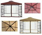 FoxHunter Garden Pavilion Patio Gazebo Metal Shelter 3m x 3m Party Tent Marquee