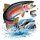 Fly Fishing Sweatsuit Hoodie Sweatpants Set Rainbow Trout Freshwater Catch Bait