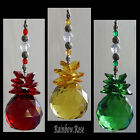 Suncatcher #50 CRYSTAL BALL 40mm RED, YELLOW or GREEN Sphere Feng-Shui Christmas