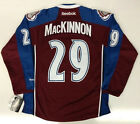 NATHAN MACKINNON COLORADO AVALANCHE REEBOK PREMIER HOME JERSEY NEW WITH TAGS