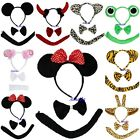Kids Minnie Micky Mouse Leopard Frog Tiger Sheep Giraffe Devil Headband Costume