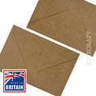 C6 A6 Brown Ribbed Kraft Envelopes 100gsm
