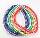 Wholesale 10 mm multicolor glass imitation pearls charms necklace