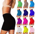 Women Cotton Spandex Yoga Gym Bike Shorts S-3XL 20 Colors Made in USA.