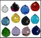 Crystal BALL 40mm Clear PINK Lilac BLUE Green LEMON or Red Suncatcher SPHERE