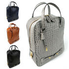 Artificial Crocodile Pattern Luxurious Backpack(#3466)