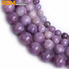 Wholesale Natural Stone Lepidolite Gemstone Jewely Making Loose Beads Strand 15""