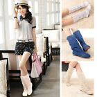 Summer Womens Mesh Chic Knitting Hollow Fashion High Boots Shoes
