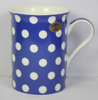 Cascade Spotted Mug China Polka Dot Blue Red Black White Pattern NEW