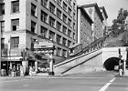 1960 DOWNTOWN LOS ANGELES TROLLEY ANGEL'S FLIGHT PHOTO