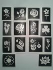 Flower themed stencils for glitter tattoos / cakes / airbrush / many other uses