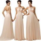 New Sleeveless Wedding Party Prom Homecoming Dress Bridesmaid Polyester Ballgown