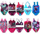 Girl Kids Monster High Skull Swimsuit Swimwear Swim Costume 6-14Y Bikini Tankini