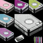 Luxury Bling Aluminum Shockproof Dirt Dust Proof Hard Cover Case For iPhone 5 5S