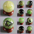 30mm Green drusy druzy agate sphere shaped carving decor w/ stand