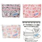 JAPAN SANRIO KITTY MELODY TWINS STAR SNOOPY NYLON 3-LAYERS ZIPPER COSMETIC BAG