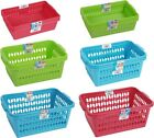 QUALITY PLASTIC HANDY MULTI PURPOSE STORAGE BASKET HAMPER SETS KITCHEN HOME SHOP