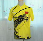 New Li-Ning Man's London Olympic Games Table Tennis T-Shirt Embroidery flag