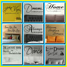 LARGE LOUNGE BEDROOM WALL QUOTE 1mW x 42CMH CHOICE OF 9  STICKERS TRANSFER DECAL