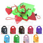 Fashion Clover Strawberry Reusable Folding Shopping Bag Travel Grocery Bags Tote