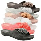 Womens Ladies Toe Post Summer Beach Flip Flops Wedge Open Toe Sandals Shoes Size