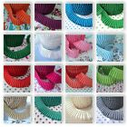 BY THE ROLL - PLAIN PLEATED GATHERED picot lace edge FABRIC TRIM RIBBON