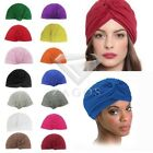 Fashion Unisex Indian Style Stretchable Turban Hat Hair Head Wrap Cap Headwrap