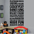 EXTRA LARGE CHILDREN NURSERY QUOTE IN THIS PLAYROOM RULES WALL STICKER TRANSFER
