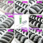 8 Style Choice 10 Pairs Handmade Natural False Eyelashes With Or Without Glue GB