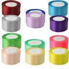 DIY 22 metres 25 yards of Satin Ribbon 50mm 5cm Multiple Colours sold by rolls