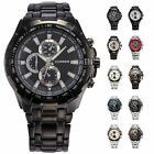 Fashion Stainless Steel Luxury Sport Analog Quartz Mens Wrist Watch