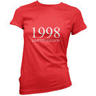 1998 Limited Edition - Womens 16th Birthday Present / Gift T-Shirt - 11 Colours