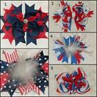 NEW Red White Navy Blue Patriotic Hair Bow