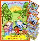 CHILDREN SPRING WORDS SAYINGS TOYS  FABRIC PANELS & STRIPS  (MAKE A SELECTION)