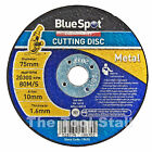 "75mm  THIN METAL CUTTING DISC 3"" STEEL & SS Fits Workzone Cut off tool"