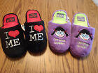 THE FACTORY Size 13 1 2 3 or 4 5 Drama Queen I Love Me Choice Slippers NWT