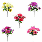 Artificial Flowers Dahlia Anenome Foxtail Posy Bouquet Silk Memorial