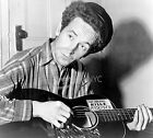 1943 WOODY GUTHRIE W/ GUITAR ANTI-FASCIST PHOTO