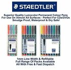 Staedtler Lumocolor Permanent Universal Colour Marker Pens 1mm Line OHP CD DVD