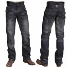 Mish Mash 1988 Walker Blue Resin Mens Loose Straight Leg Jeans Was £69.99