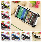 Heavy Duty Impact Silicone Gel Rugged Kick Stand Case Cover For HTC One 2 M8