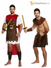 Adults Mens Roman Greek Gladiator Warrior King Achilles Fancy Dress Costume